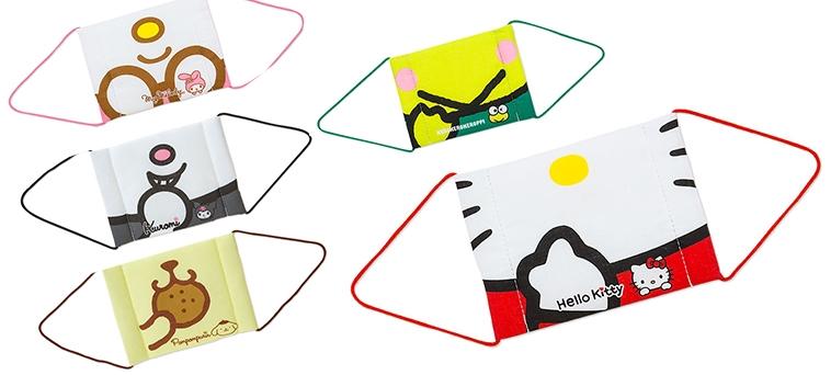 日本sanrio卡通人物口罩